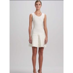 Herve Leger Jules Scalloped A-Line Dress